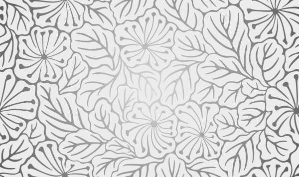 Картинка трафарета листья цветы