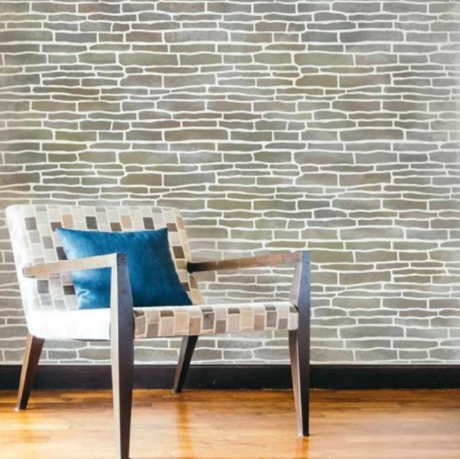 старый кирпич многоразовый трафарет для стен пола потолка мебели