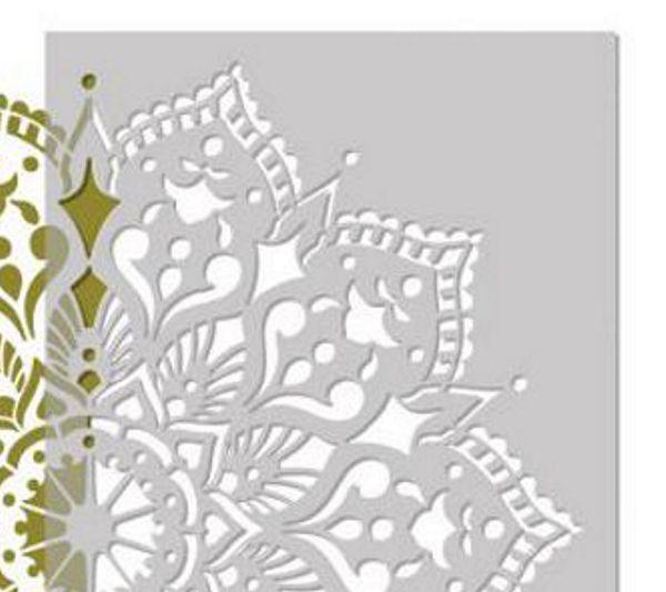 многоразовый трафарет для стен пола потолка мебели мандала