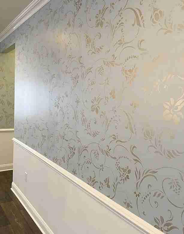 многоразовый трафарет для стен пола потолка