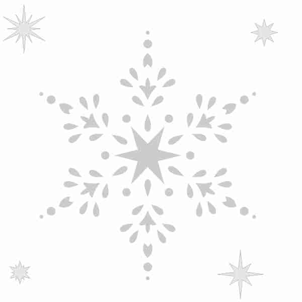 Трафарет для новогодних окон