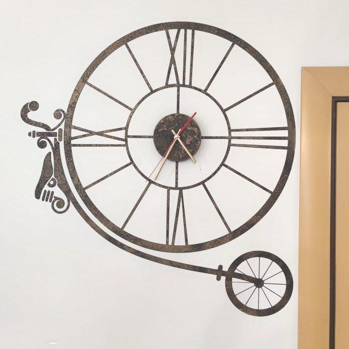 """Декоративные часы """"Винтажный велосипед"""""""